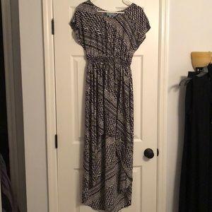 Aztec Print High Low Dress